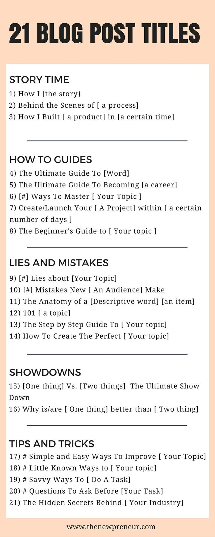 21 eye catching blog post titles - Here are 21 different titles you can use for improving your blog content, increase your traffic, and more. This also includes a free workbook you can use as a guide.