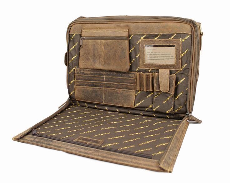 Teczka na komputer Greenburry 1718-25  wnętrze, z kolekcji Vintage Oryginal.  #vintage #Greenburry #teczka #torba #skóra #mensbag #fashion Teczka dostępna w sklepie internetowym: www.grrenburry.pl
