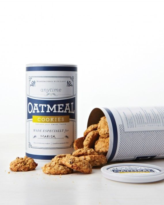 Print our customizable clip art labels and adhere them to an 18-ounce oatmeal canister for easy gift-giving.Print the Oatmeal Cookie Labels