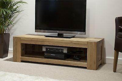 Padova solid oak furniture plasma television cabinet stand unit