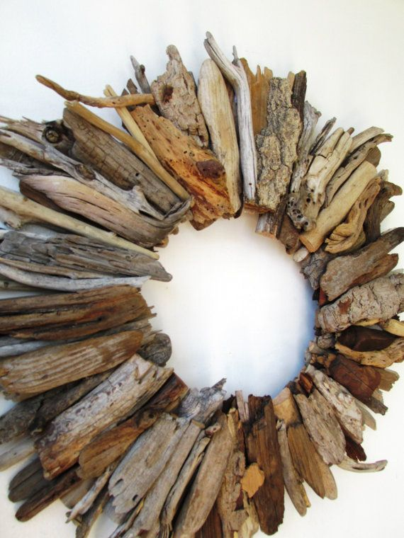 Midsize Driftwood Wreath Rustic Home Decor by PeaceLoveDriftwood