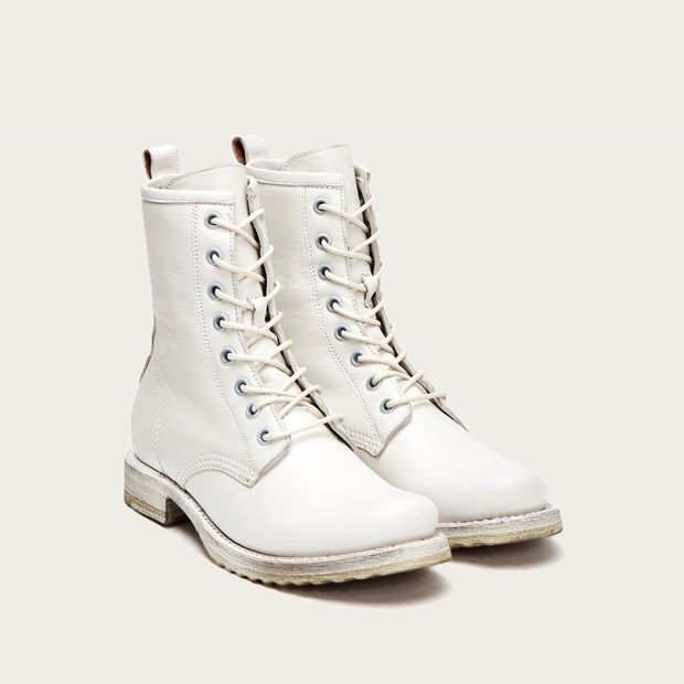 Veronica Combat | White combat boots