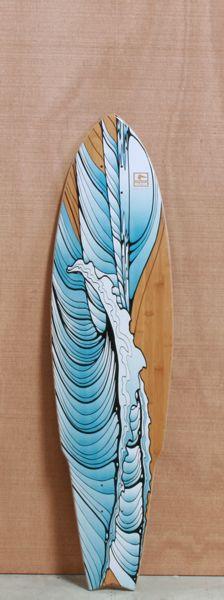 """Globe 38.5"""" Twin Peaks Longboard Deck give me a longboard and we'll ride"""