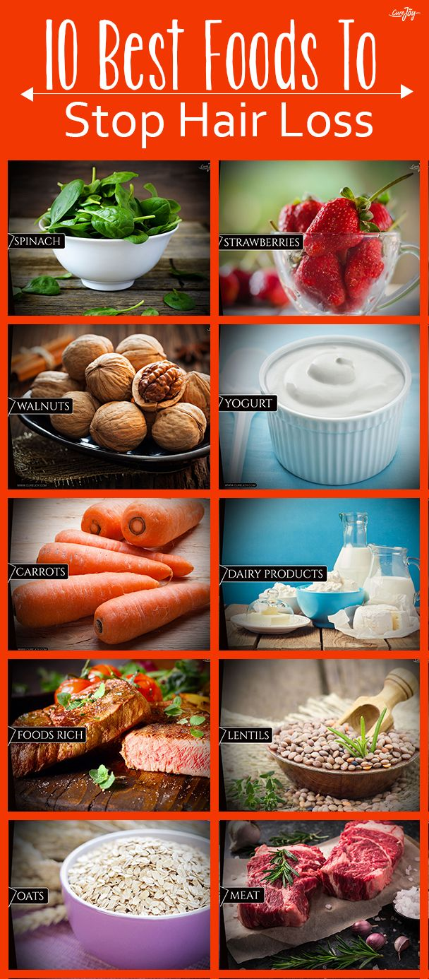 10 Best Foods To Stop Hair Loss