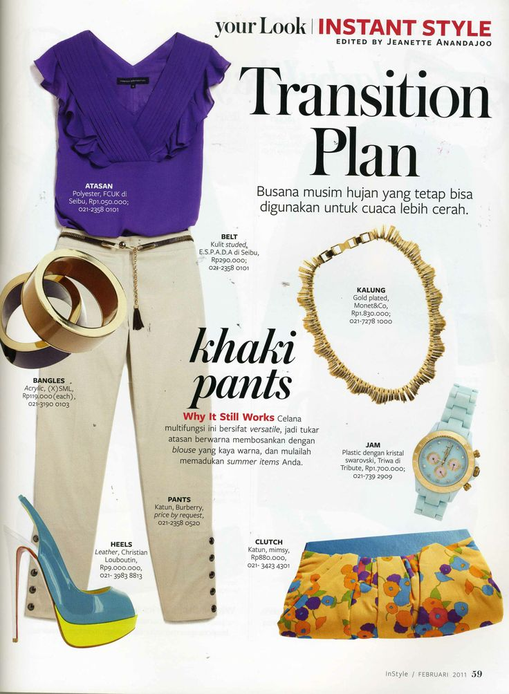 (X)S.M.L Bangles is appeared on Instant Style rubric on Instyle Indonesia - February 2011