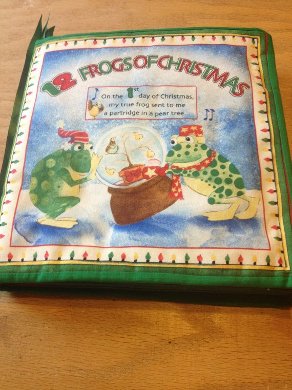 The 12 Frogs of Christmas by natureslittlequilts on Etsy