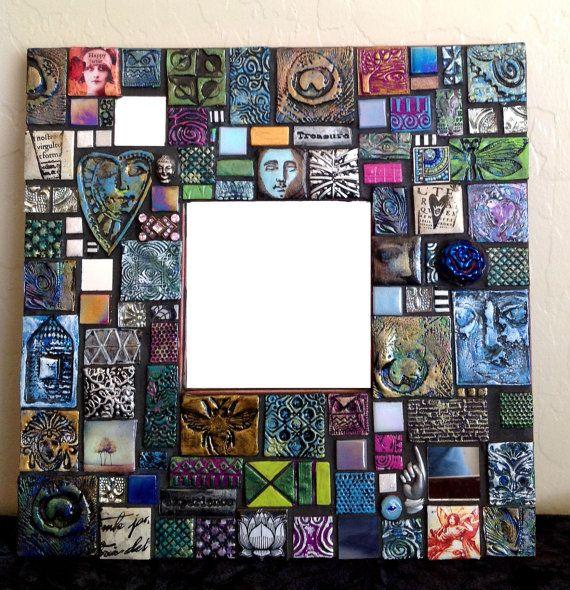 The Happy Artist Mosaic Mixed Media Mirror