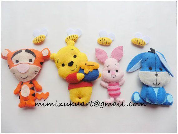 Winnie the pooh mobile Móvil de pared inspirado en por mimizukuart