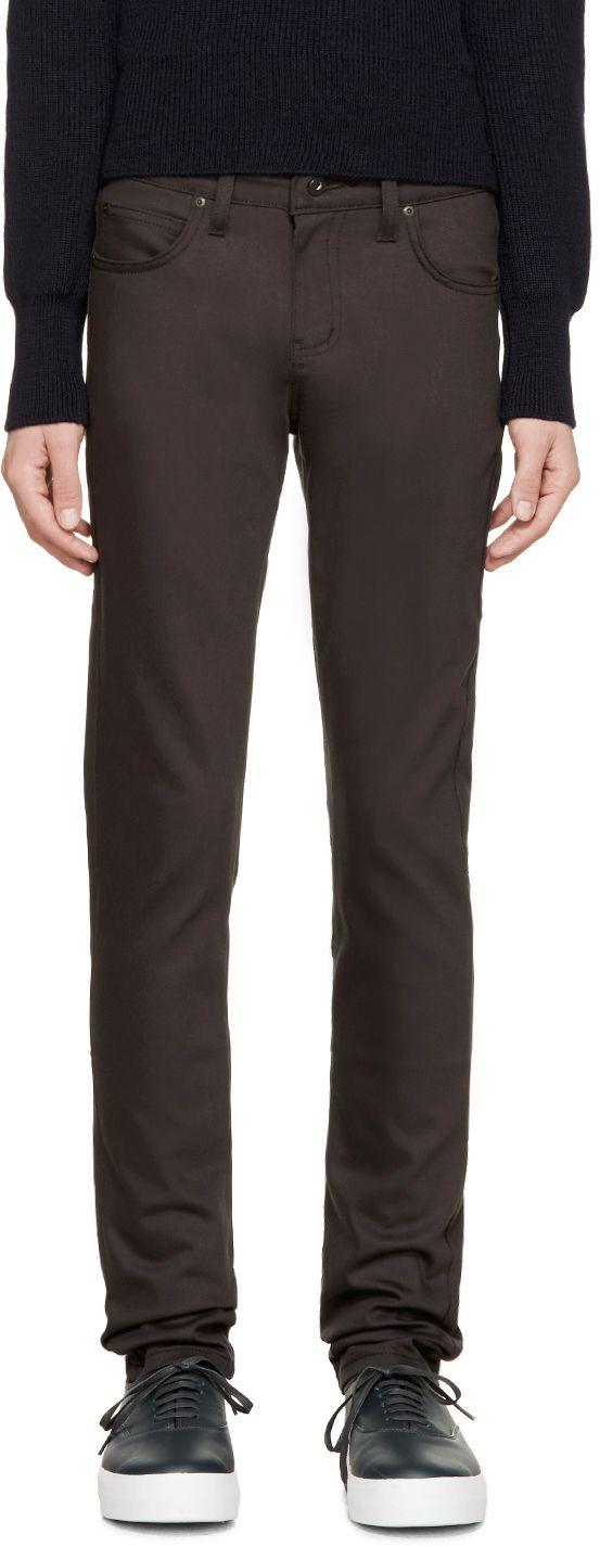Naked & Famous Denim: Grey Smoke Power Stretch Super Skinny Guy Jeans | SSENSE