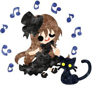フリーのイラスト素材黒いシルクハットの少女と黒猫  Free Illustration A black silk hat girl and a black cat   http://ift.tt/2pNwPBD