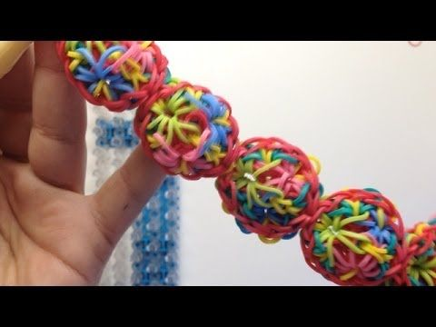 Rainbow Loom FUNFETTI Bracelet. Designed and loomed by Mario at OfficiallyLoomed. Click photo for YouTube tutorial. 03/10/14.