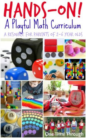 This post outlines a playful hands-on math curriculum that can be used as a resource for parents at home with young children aged 2 to 6 years old. {One Time Through} #STEM