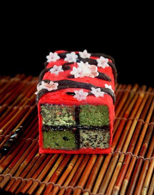 Japanese Inspired Battenberg Cake (no recipe)