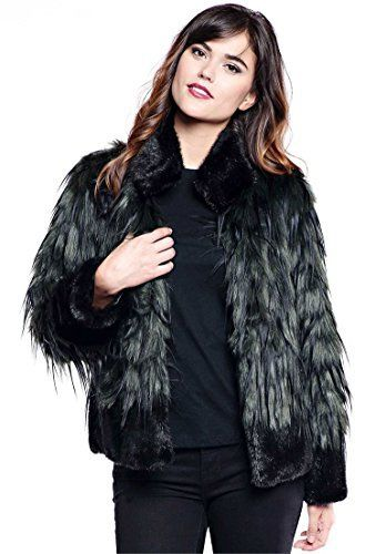 "Product review for Roamans Women's Plus Size Fabulous Furs Feather Fox Jacket.  - This is a faux fur jacket you want in your closet stat. faux fur with black tipping on body faux fur stand collar, hem and cuffs 4 hook and ring closures satin-lined pockets hem drops to about 26"" acrylic/modacrylic, professional dry clean, imported In Style Now! For a look you'll..."