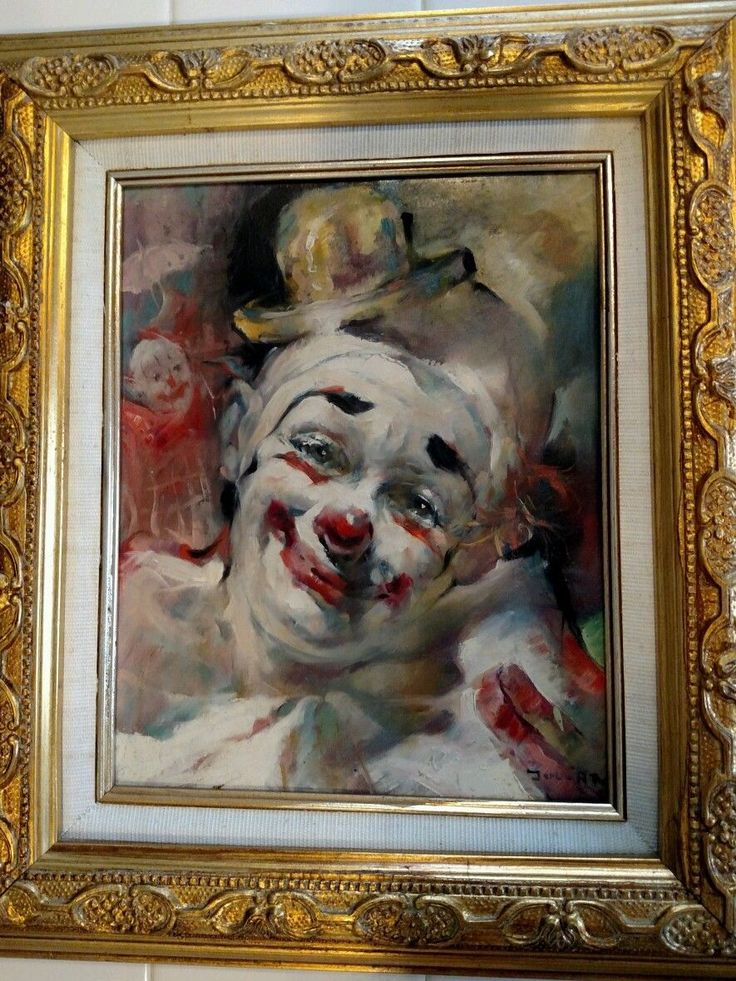 Julian Ritter Portrait of A White Faced Clown | eBay ...