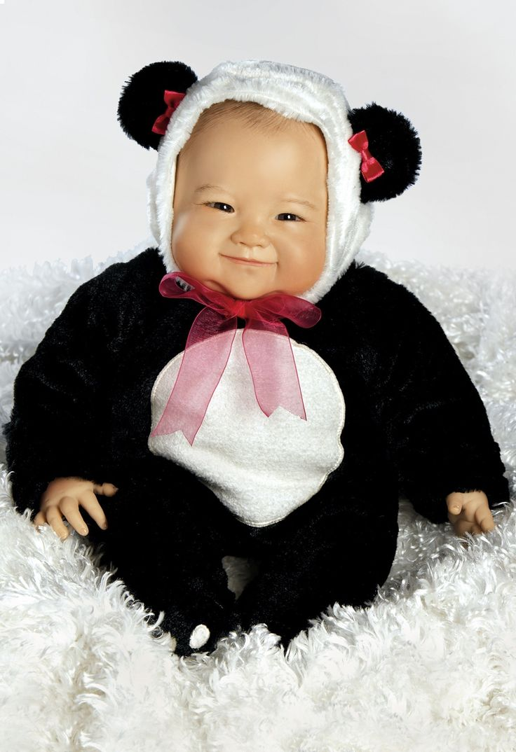 Su-Lin, 20 inch Realistic Asian Baby Doll in Vinyl with Weighted Body