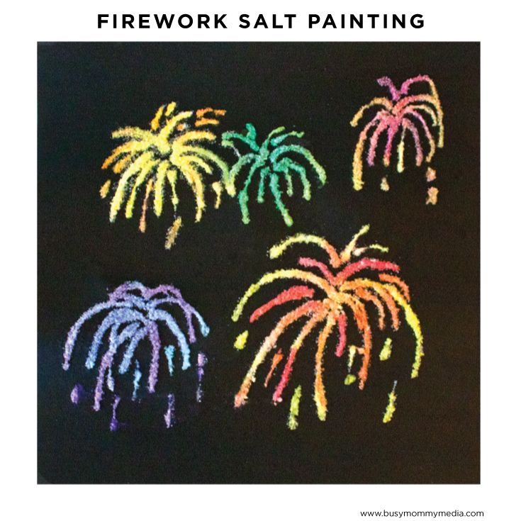 This firework salt painting art project is the perfect art activity to do with your kids this summer! It uses salt to create a cool effect.