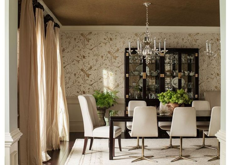 Elegant Dining Room In Gold And Cream Colors