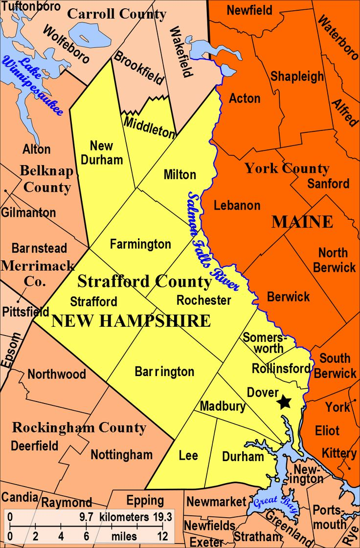 Strafford County New Hampshire Nh Merrimack County