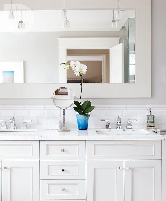 Bathroom. Large Framed MirrorsFraming ...