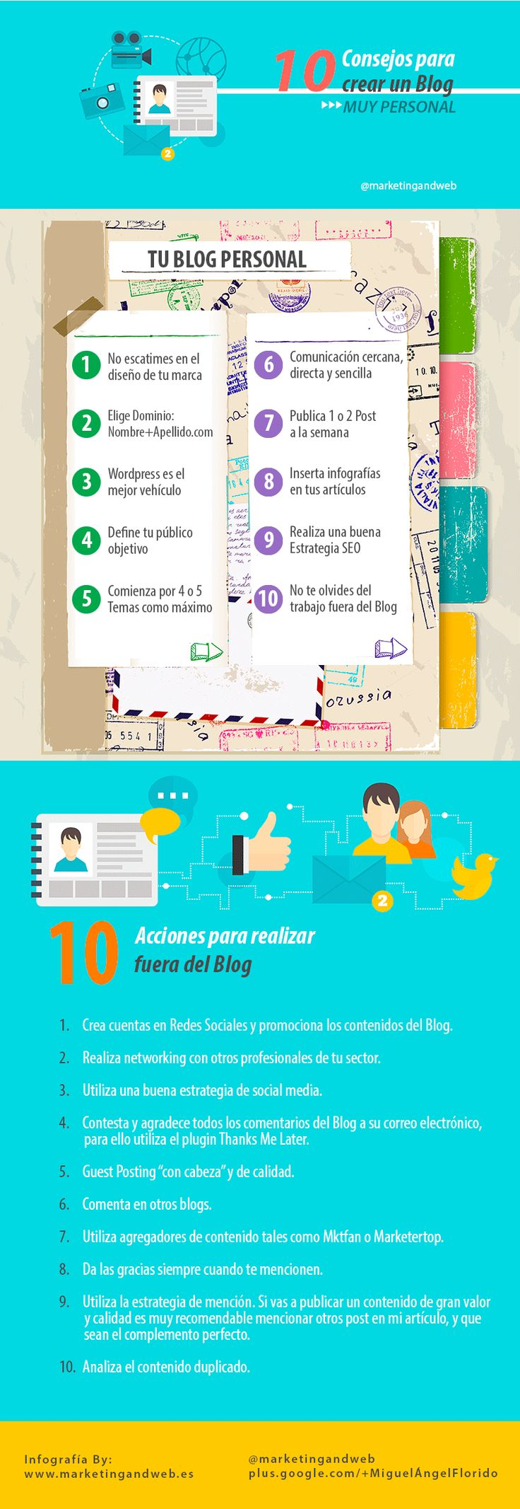 ★★★★ 10 Consejos que te ayudarán a hacer un Blog Personal. ¿Sabes cómo crear un blog y conseguir miles de visitas en pocos meses?.  #blog #wordpress #SM #communitymanager