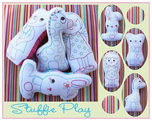 """""""Stuffie Play"""" designed by Melanie Hurlston for Sew Little."""