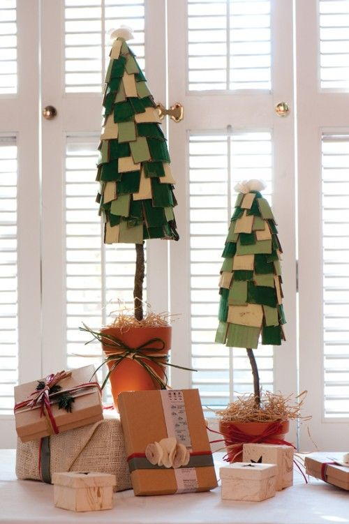 cute and cardboard!  christmas trees