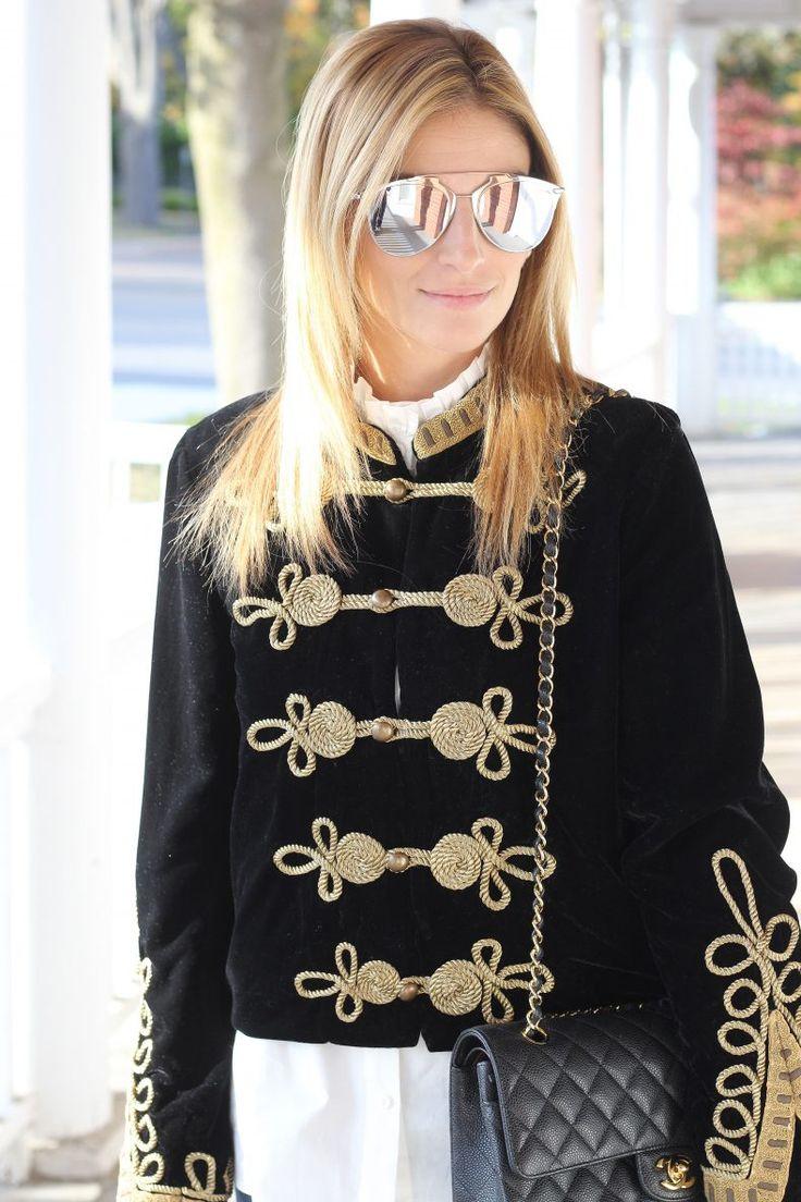 Sunglasses – Dior // Jacket – Zara // Shirt – H&M // Jeans – Rag & Bone // Bag – Chanel // Shoes – Valentino