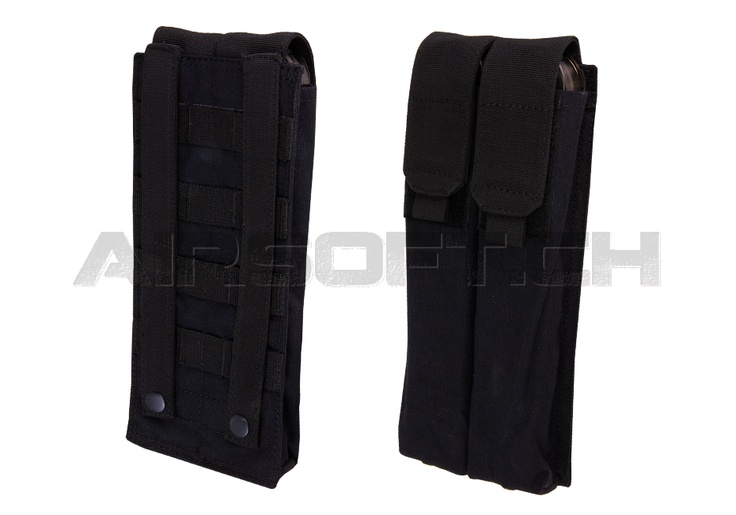 MOLLE P90 Double Mag Pouch Black (Invader Gear)