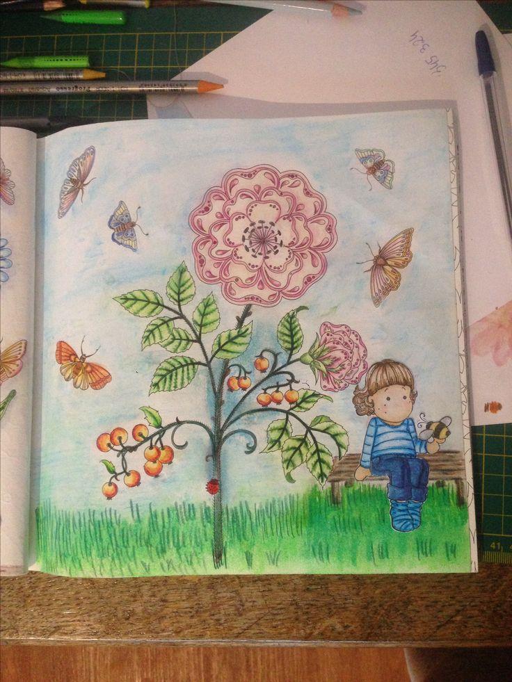 Tajemny ogród Kredki mondeluza  Kredki progresso aquarella Stempel magnolia (kocham) ❤️😘❤️😘❤️😘❤️😘