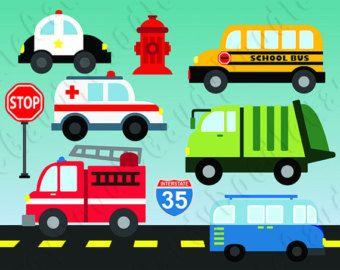 80% OFF SALE Cute Transportation Clip Art Car by pointandpoem