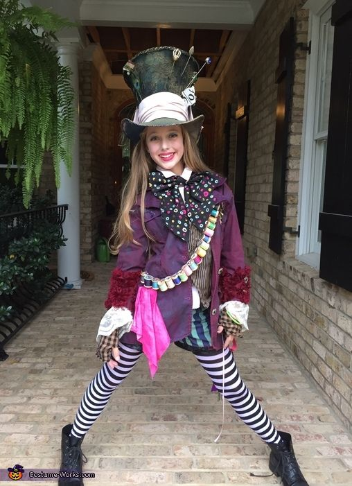 Jody: My daughter, Georgia, is wearing this costume. She came to me in early October with the idea to be the Mad Hatter, Like Johnny Depp, mom. We googled photos and...