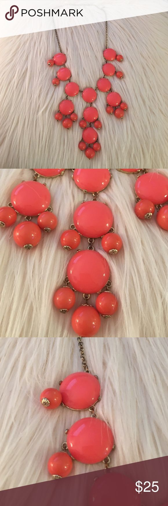 Coral bubble necklace Bubble necklace with no missing beads/balls. Free People Jewelry Necklaces