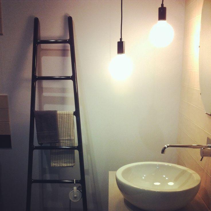 #SCALETTA by #Tubesradiatori in Ragno's  stand at CERSAIE  #Scaletta design Elisa Giovannoni #Tubesradiatori #Radiator #Interiordesign #Design