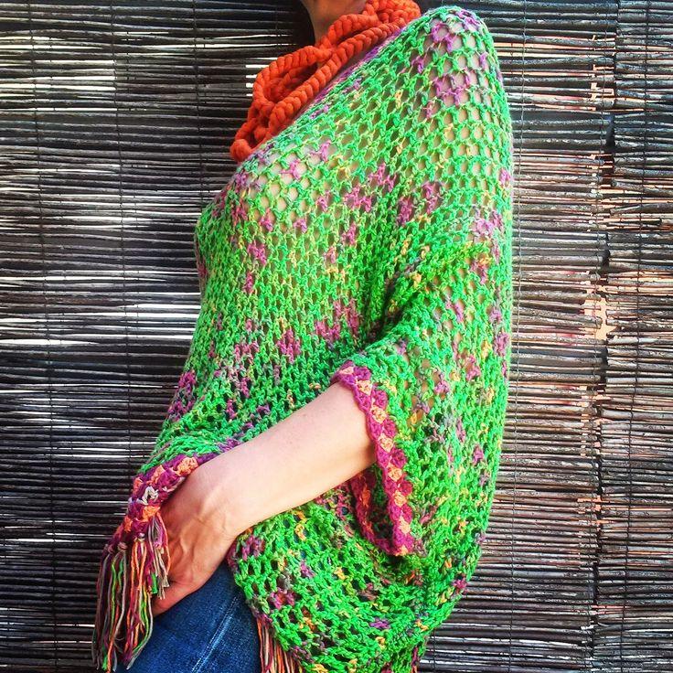 Feito à mão em crochet com fio 100% bambú  85