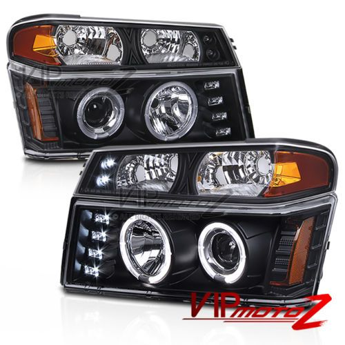 Black-3D-LED-Halo-Projector-Headlights-Signal-Bumper-Lamps-04-12-Colorado-Canyon