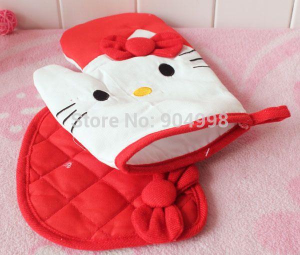 Aliexpress.com'da Professional Hello Kitty  üzerinden Yüksek Kalitetede Paspaslar ve Pedleri,10 çift/lot hello kitty mikrodalga fırın eldiveni + yalıtım pedi kırmızı ve pembe hakkında daha fazla Paspaslar ve Pedleri bilgi elde edin.