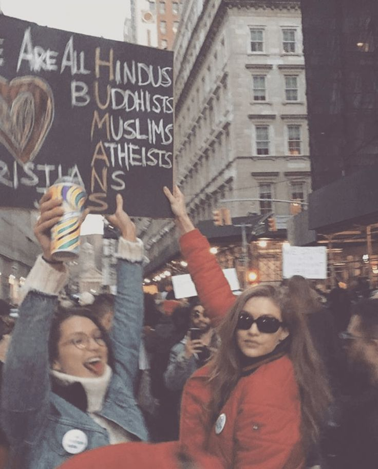 Watch Gigi and Bella Hadid Protest the Muslim Ban
