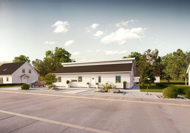 Tidlös 01: 1-planshus med öppenplanlösning i modern stil.