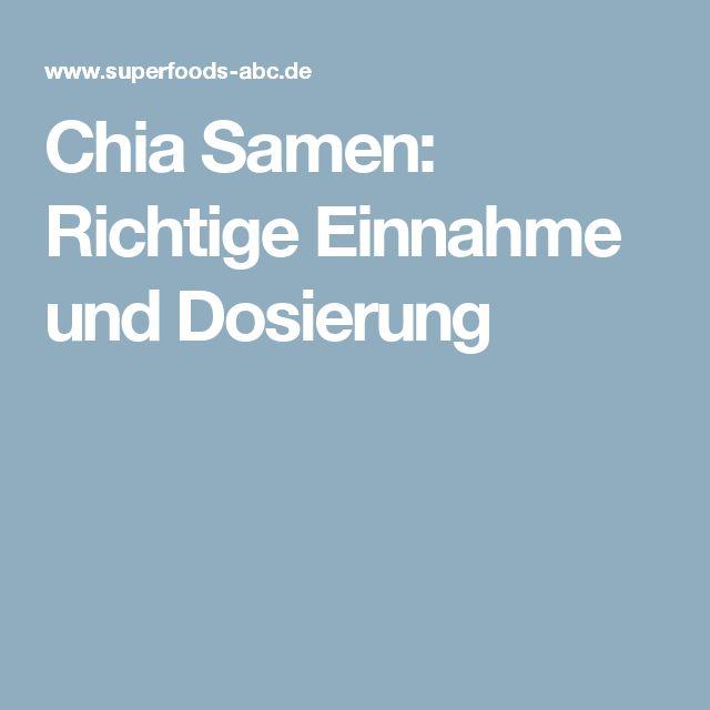 Chia Samen: Richtige Einnahme und Dosierung