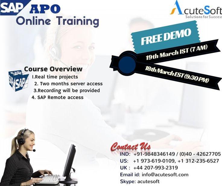 SAP APO Online Training with real time scenarios(AcuteSotf)