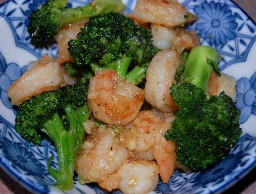 Buttered-Garlic Shrimp & Broccoli