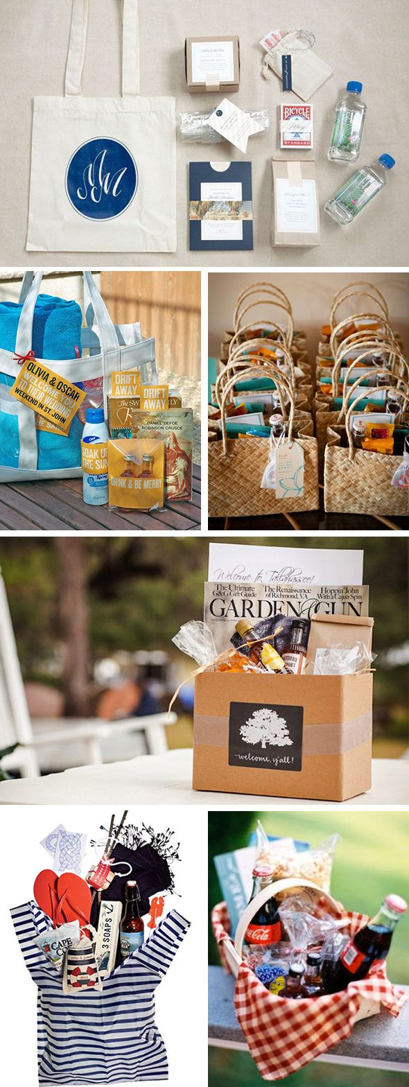 destinaton wedding welcome bags New Destination Wedding Welcome Bag Ideas
