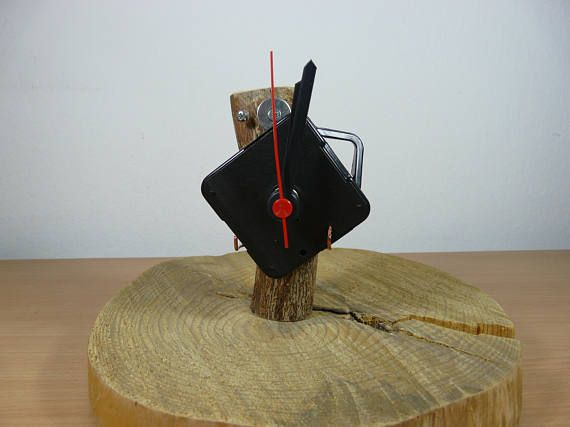 Wooden statue and clock/ Wooden Robot Mickey