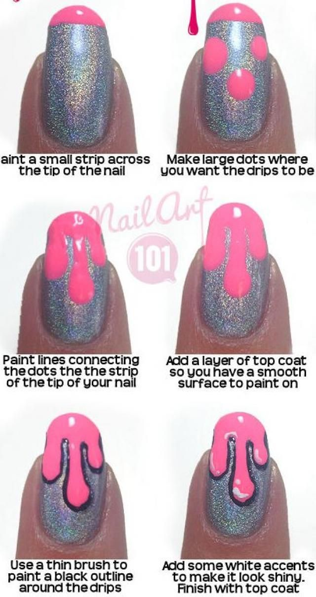 32 Easy Nail Designs Step By Step Nail Design, Nail Art, Nail Salon, Irvine, Newport Beach