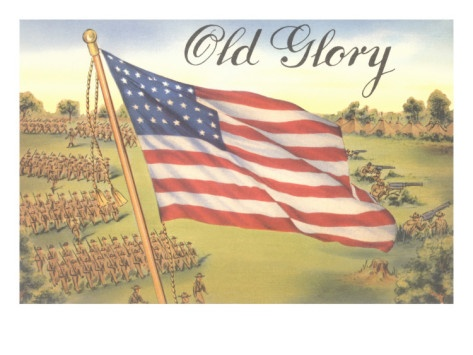 Old Glory, Flag with World War I Soldiers