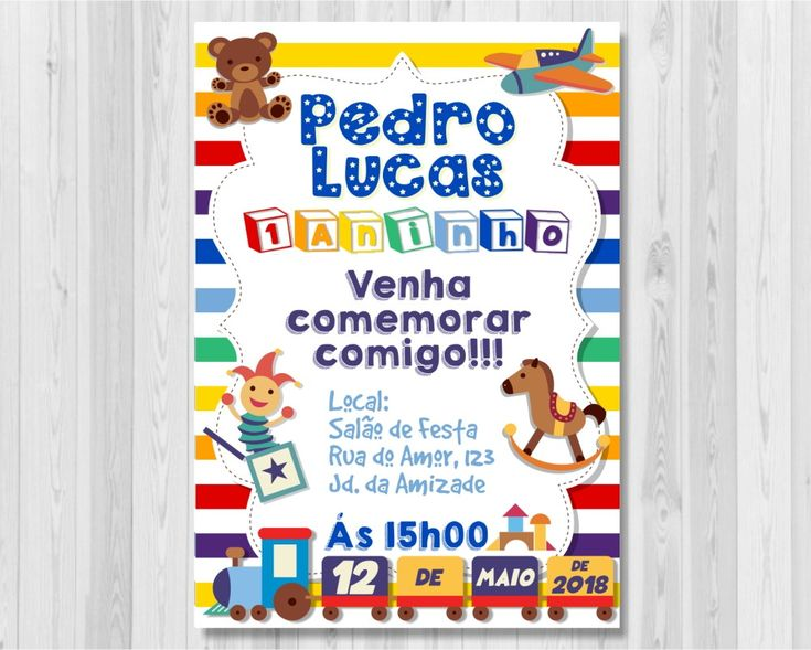 Brinquedos Criança Convite Digital