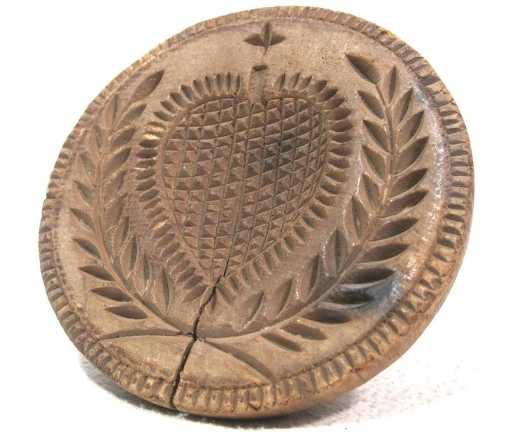 Antique 19thC Heart Butter Stamp sold  Ebay  150.00