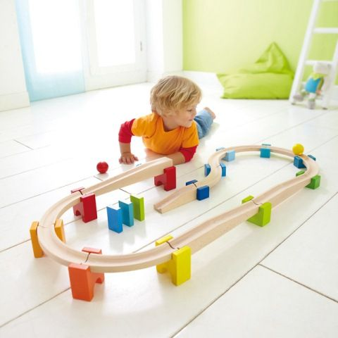 An introduction to the Ball Track sets, Haba's My First Ball Track is a creative play system designed for younger children #haba #christmastoys #marblerun