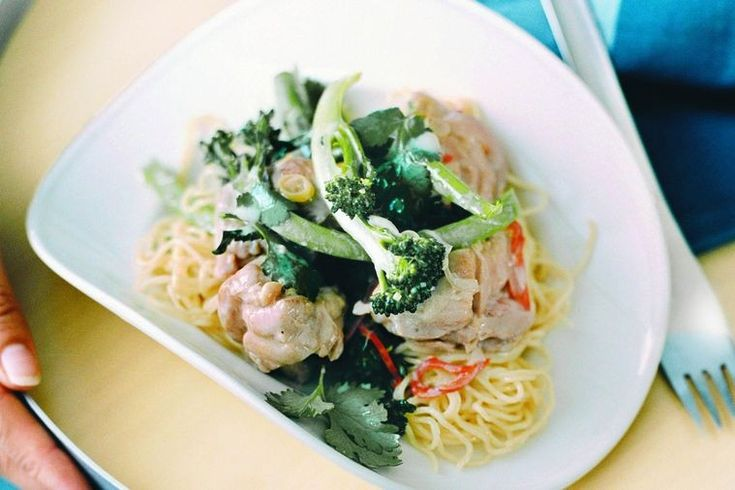 Slurp up the noodles and chomp into the crisp, green veggies in this easy meal.